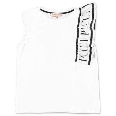 EMILIO PUCCI white cotton jersey top
