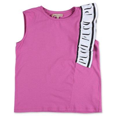 EMILIO PUCCI t-shirt fucsia in jersey di cotone
