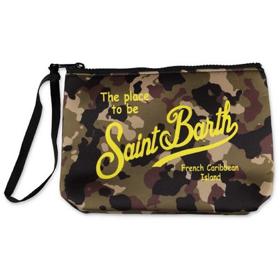 MC2 Saint Barth camouflage scuba fabric purse
