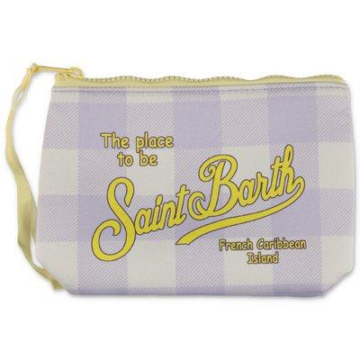 MC2 Saint Barth check scuba fabric purse