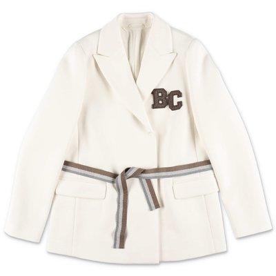 BRUNELLO CUCINELLI giacca bianca in cotone