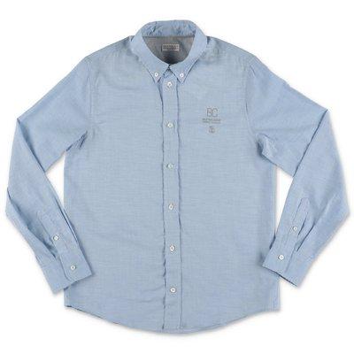 BRUNELLO CUCINELLI camicia azzurra in cotone