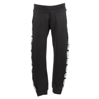 Black logo bands cotton sweatpants