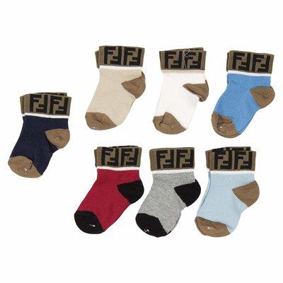 Set of 7 cotton knit socks