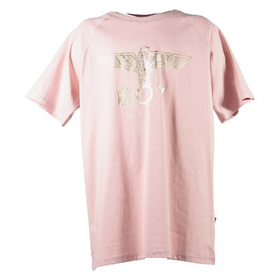 Pink logo jersey cotton t-shirt