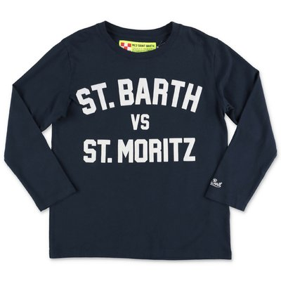 MC2 Saint Barth navy blue cotton jersey t-shirt