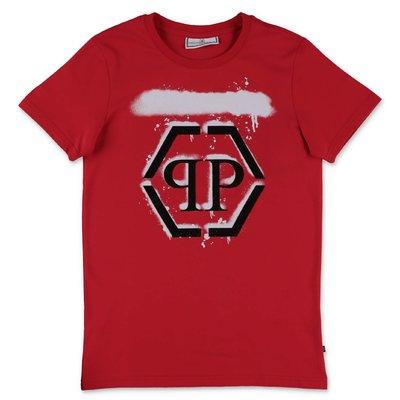 Philipp Plein t-shirt rossa in jersey di cotone