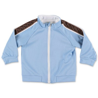 FENDI sky blue techno fabric sweatshirt