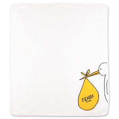 FENDI coperta bianca in cotone