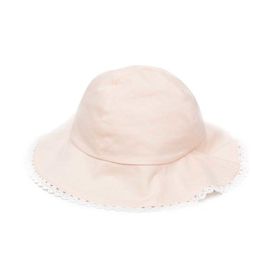 Chloé powder pink cotton hat