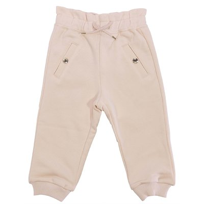 Powder pink cotton sweatpants