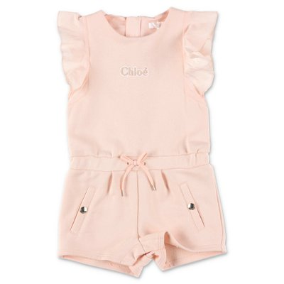 Chloé powder pink cotton romper