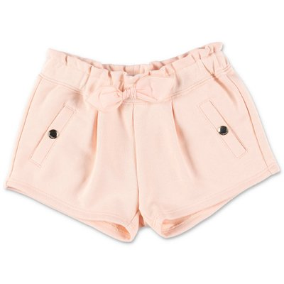 Chloé powder pink cotton sweat shorts