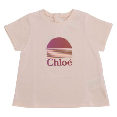 Powder pink cotton jersey t-shirt