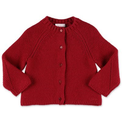 Chloé red knit cardigan