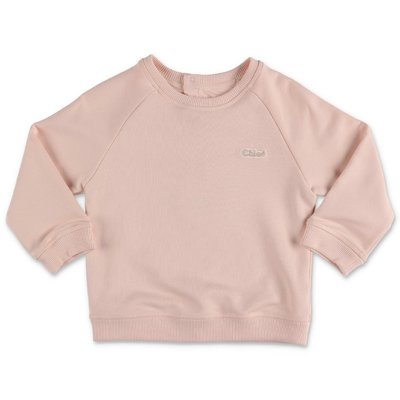 Chloé powder pink cotton sweatshirt