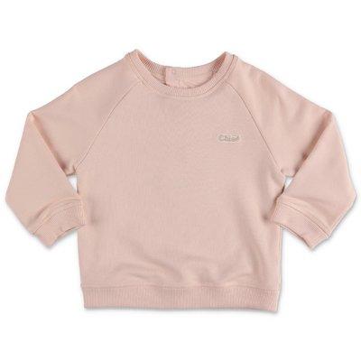 Chloé felpa rosa cipria in cotone
