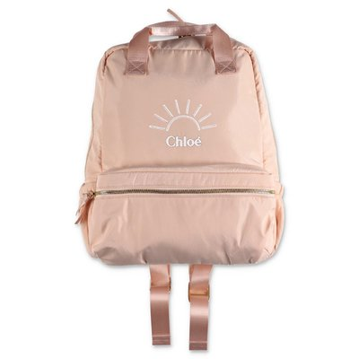 Chloé powder pink nylon backpack