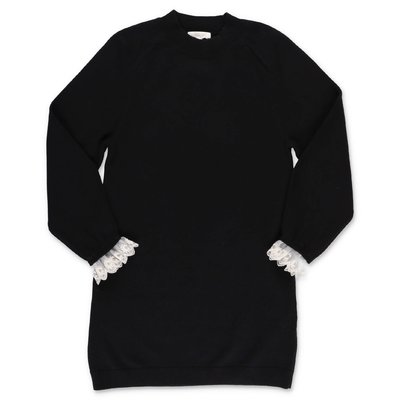 Chloé black cotton & wool knit dress
