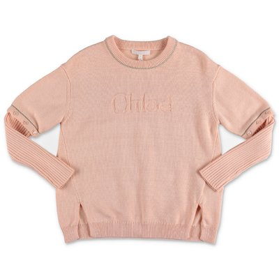 Chloé powder pink cotton knit jumper