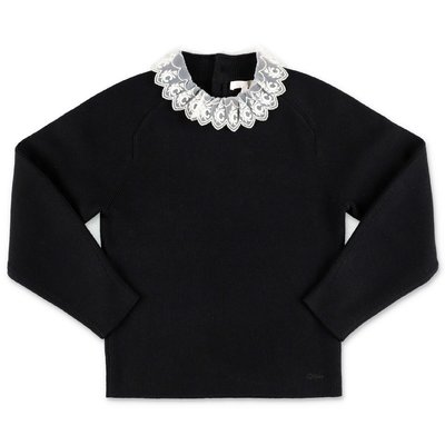 Chloé black cotton knit jumper