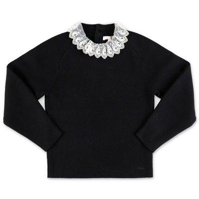 Chloé black cotton knit jumper