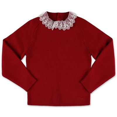 Chloé red cotton & wool knit jumper