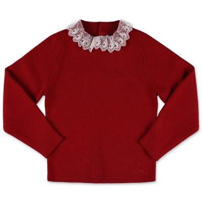 Chloé pullover rosso in maglia di cotone e lana