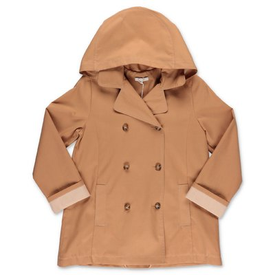Chloé beige cotton canvas trench coat with hood