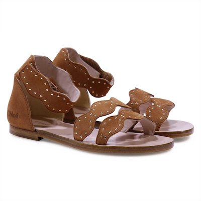 Brown girl leather sandals