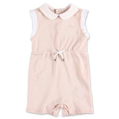 Chloé powder pink cotton jersey romper