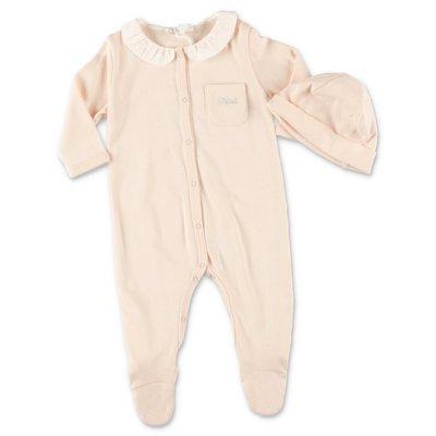 Chloé powder pink cotton jersey two piece set