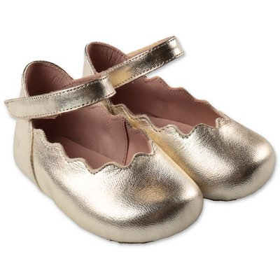 Chloé golden nappa leather prewalker ballerinas