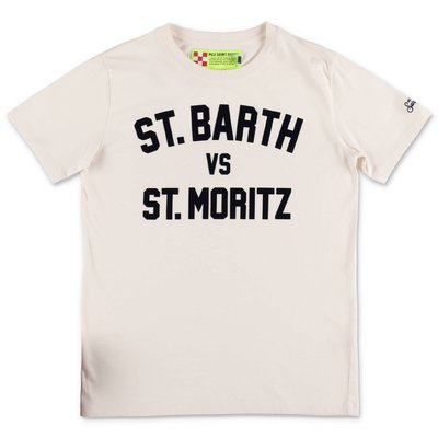 MC2 Saint Barth t-shirt bianca in jersey di cotone