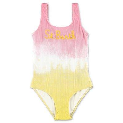 MC2 Saint Barth costume intero rosa e giallo in lycra