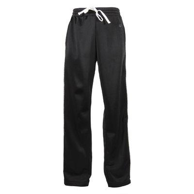Pantaloni neri in triacetato con cristalli