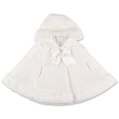 Modì white techno fabric cape with hood