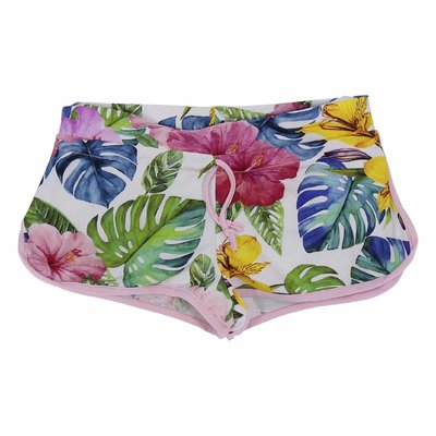 Costume shorts da mare stampa jungle in lycra