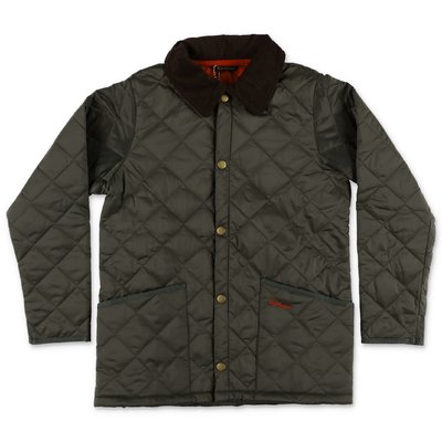 Barbour Liddes military green quilted nylon jacket