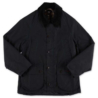 Barbour giubbino Barbour nero in cotone cerato
