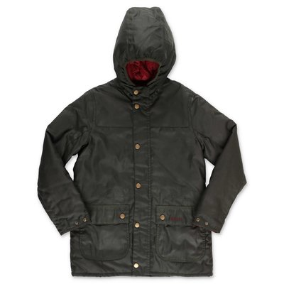 Barbour Durham dark green nylon hooded jacket