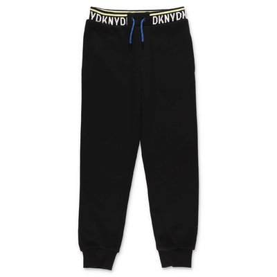 DKNY black cotton sweatpants