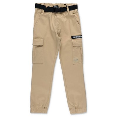 DKNY beige cotton gabardine pants
