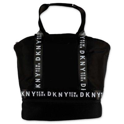 DKNY logo black nylon bag