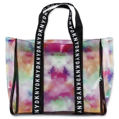 DKNY transparent multicolor print pvc bag