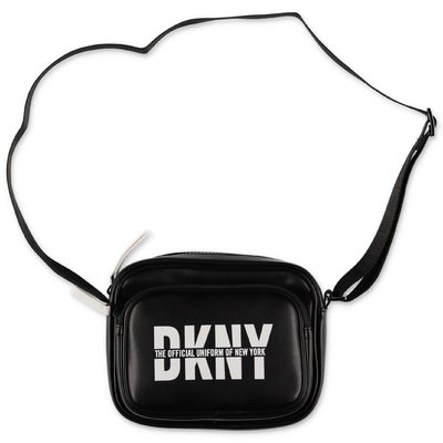 DKNY black faux leather belt bag