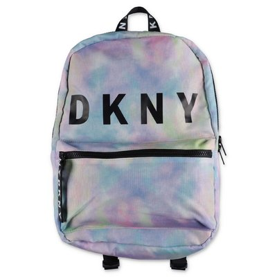 DKNY multicolor print nylon backpack