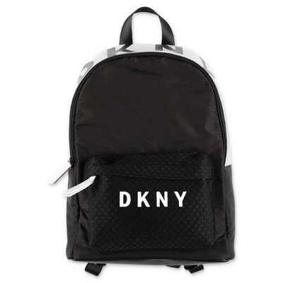 DKNY logo black nylon backpack