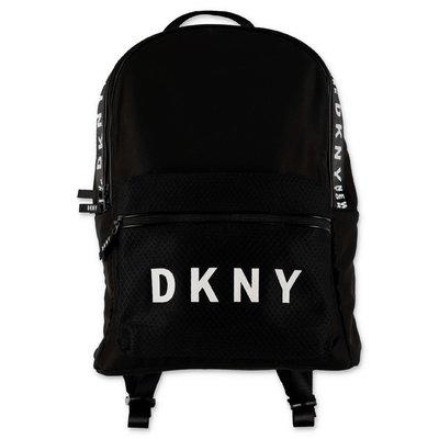 DKNY logo black nylon backpack
