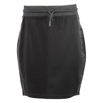 Black viscose blend skirt